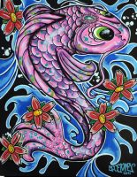 pink koi by ecce-one
