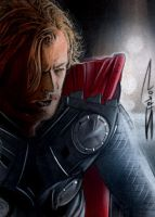 Thor Movie Sketch Card by RandySiplon