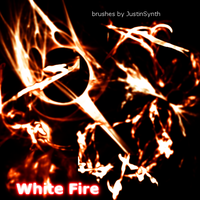 White Fire Brushes by JustinSynth