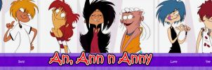 An, Ann 'n Anny Cast -old- by VampireMeerkat