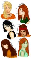 Girls of Percy Jackson and the Olympians by batbobbles