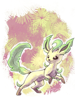 Leafeon by Leptocyon