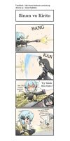 SAO 4koma : Kirito vs Sinon by GreenTeaNeko
