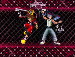 Kingdom hearts 3D Sora and Riku by LumenArtist