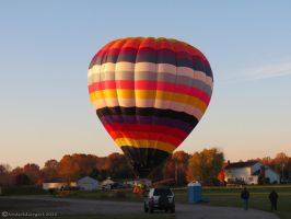 Stripes Balloon Tipsy Landing by NODSOLDIERGIRL