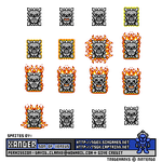Fire Thwomp Sprite by Xander-son-of-Xereus