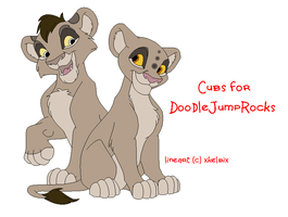 Cubs for DoodleJumpRocks by KaurauTheFox