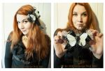 Steampunk Gothic Fascinator by MADmoiselleMeli