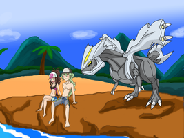 Kyurem and the Beach by himanuts