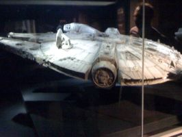 Star Wars the Exhibition - Millennium Falcon model by Jazzlednightmare16