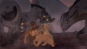 Lions and hyenas by Venus-Mike-Adel-Leo