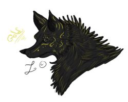 Gold wolf by Loheco