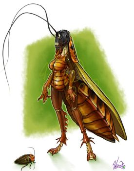 Ingrid the Cockroach by v-e-r-a