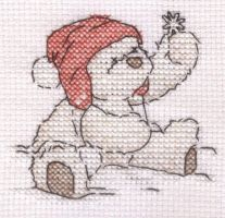 Lickle Ted Christmas cross stitch by Lil-Samuu