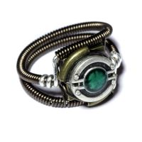 Steampunk Jewelry - RING - Green by CatherinetteRings