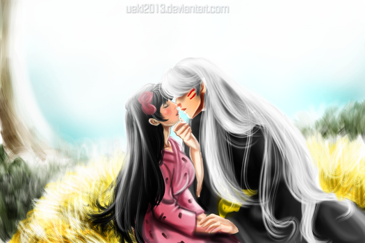 .:Sessh and Rin ~Love Love:. by uekiOdiny