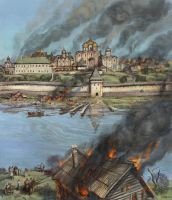 Fire in Moscow in 1493 by art-bat
