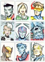 X-Men Cards in Color by piotrov