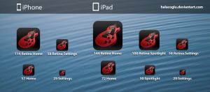 Guitar Icon for iPhone/iPad/iPod Touch by halacoglu