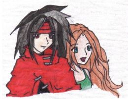 Aeris and VIncent 6 by chibi-aeris027