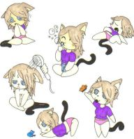 Little Miss MeowMeow sketches by Vampenxwitch