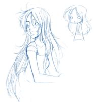 Sketchie thingy 4: Undine by ruby-chan
