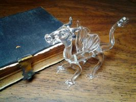 Glass Dragon with Bible by LeoGlass