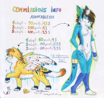 Commissions info + 2 adoptablesss by CandyGirl55