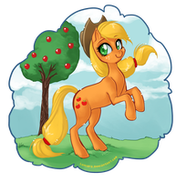 Applejack by luniara