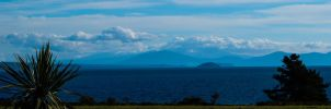 Mt Doom over the water by Reubenwa