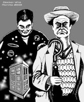 7th Doctor Who With Ace by mickmoart