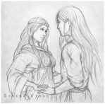Sketch Commission - Taera and Dunkan by SerenaVerdeArt