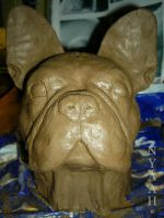 clay boston terrier by NyaahNatrix