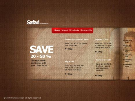 Safari . web interface by Dalash