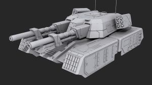 Mammoth Tank High Poly by JeepRubi