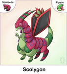 Scolipede + Flygon Fusion by Twime777