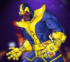 Thanos by Mawnbak