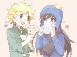 Tweek and Girl!Craig by yoyterra