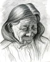 Native American old face by Caricature80