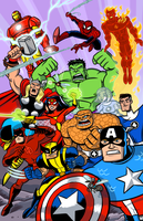 Marvel Heroes Assemble! by scootah91
