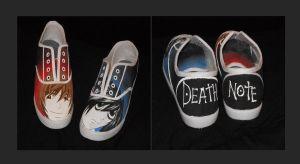 Death Note Shoes by solecreationsshoes