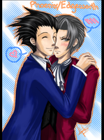 Phoenix+Edgeworth by kaiser-mony