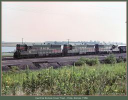 Central Illinois Coal Train by classictrains