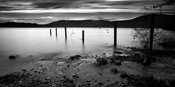 Fence in the loch by marcopolo17