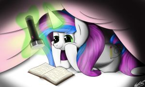 A Little Late-Night Reading by Emerlees