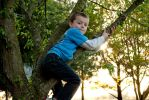 Boy In A Tree by photo-phan
