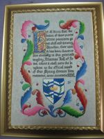 Roll of Arms Award Scroll by Merwenna