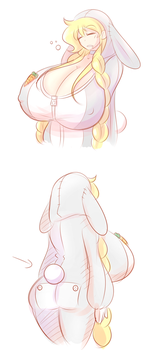More Bunnysuit doodles by theycallhimcake