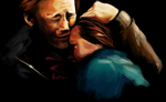 Ron and Hermione by quackpwns