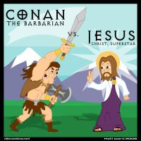 Conan Vs. Jesus by wibblethefish